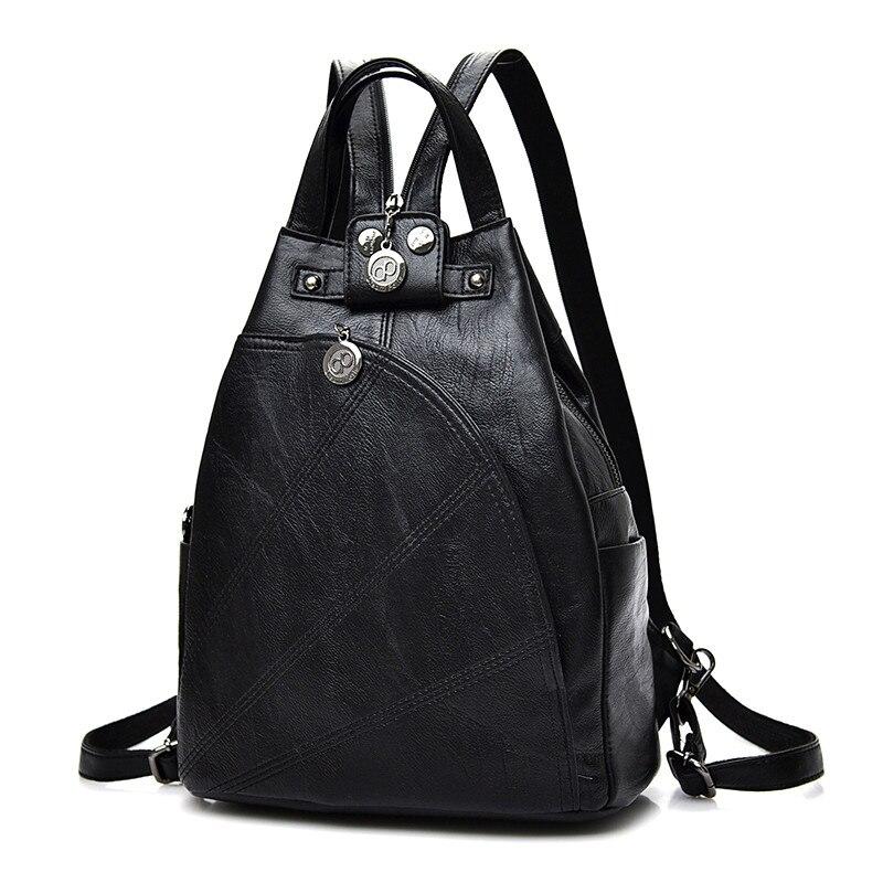 Fashion Leisure Women Backpacks Women's Pu Leather Backpacks Female School Shoulder Bags For Teenage Girls Travel Back Pack #3