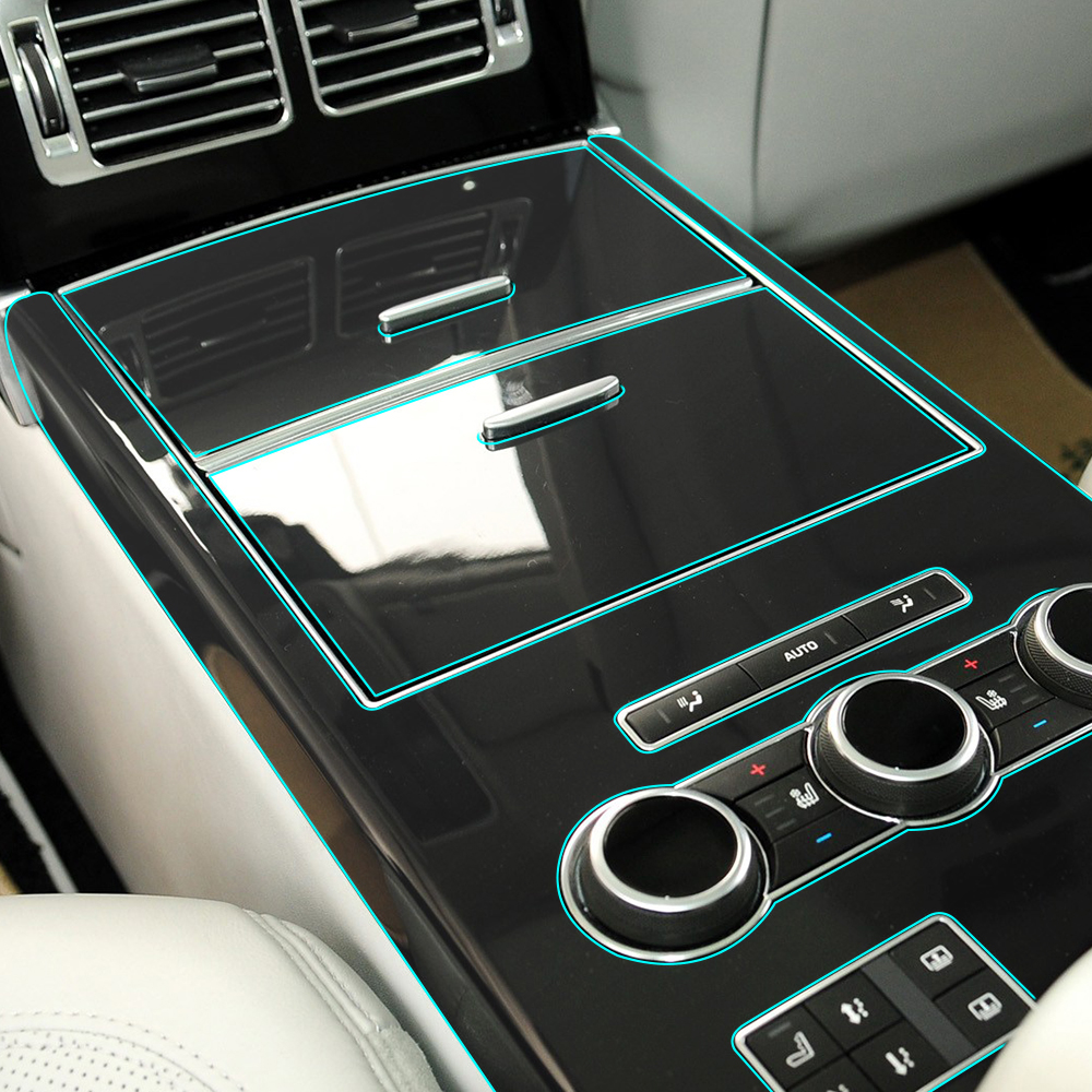 Sticker For Range Rover Sport Transparent Promotion Tpu: Clear Interior Transparent Film Console Panel Protection