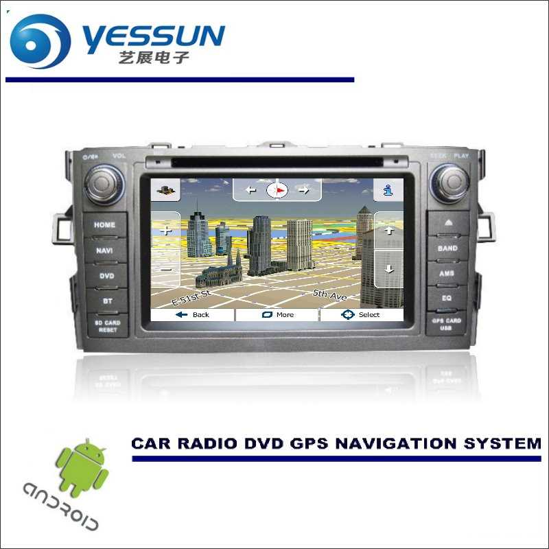 For Toyota Auris / Scion iM / Corolla - Car DVD Player GPS Navi Navigation  Android System Radio Stereo Audio Video Multimedia