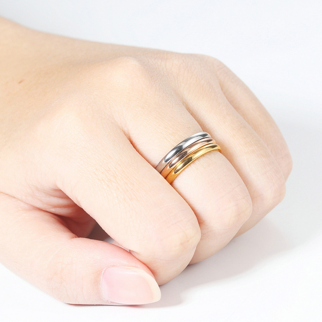 Retro Stainless Steel Rings For Women Men Titanium Ring Korean Style Dating Couple Rings Jewellry Simple Fashion Jewelry R830 3