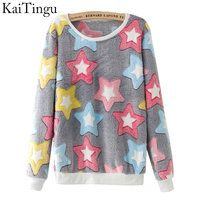KaiTingu 2016 Brand Fashion Autumn Long Sleeve Sport Suit Tracksuit Women Hoody Harajuku Kawaii Emoji Cute