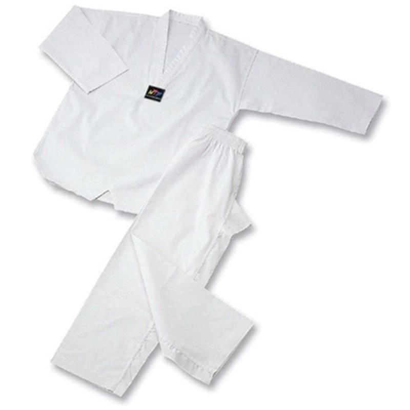 цена на white collar Taekwondo Uniform dobok adult Kids Breathable cotton Karate dobok black collar WTF approved Uniform good fabric