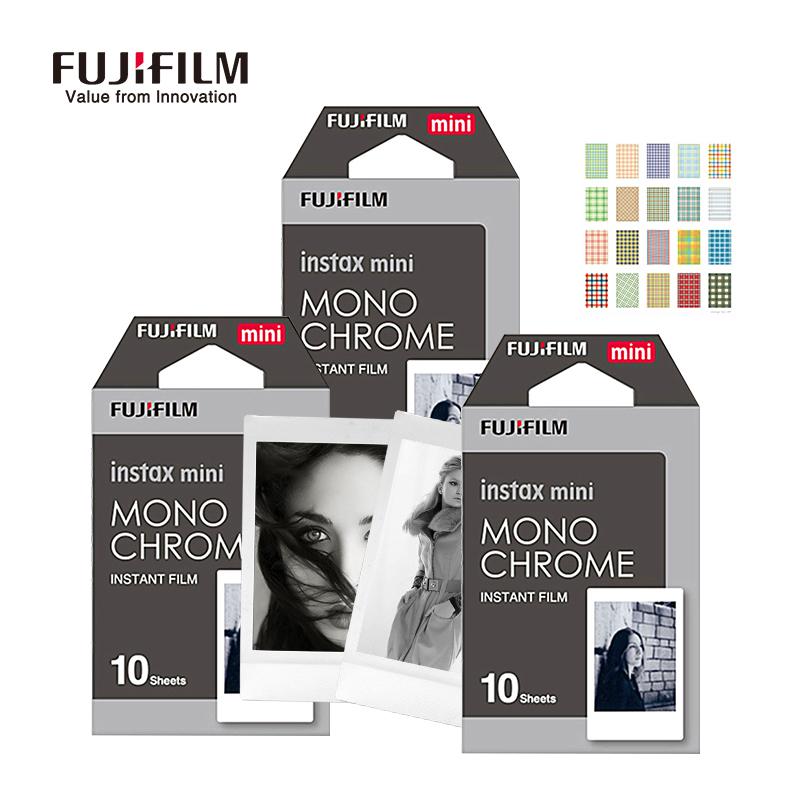 Prix pour Fujifilm instax mini 8 film 30 feuilles photographie en noir et blanc caméra papier film pour fuji instantanée mini 8 7 s 25 50 s 90 caméra