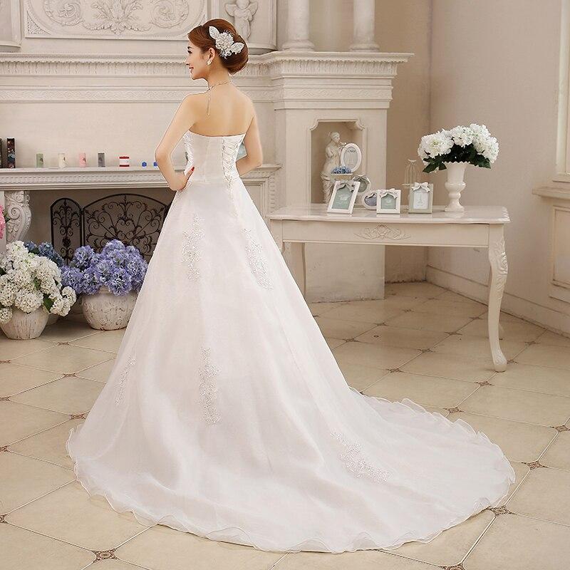 eae6f1793552 Hot Custom size New Summer Style Wedding Bride Long Tail Bra Straps Lace  Wedding Dress Vestidos De Casamento Bridal Dresses -in Wedding Dresses from  ...