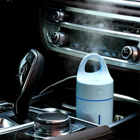 Mini Car Humidifier Essential Oil Diffuser USB Ultrasonic Air Humidifier Aromatherapy Diffuser With LED Light For