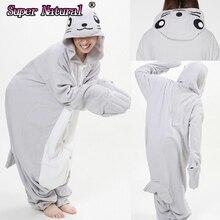 519a7da876ae2 HKSNG Filles Hiver Chaud Adulte Animal de Bande Dessinée Gris Joint Pyjamas  Pyjamas Onesies costumes de cosplay Homewear Pour Ha.