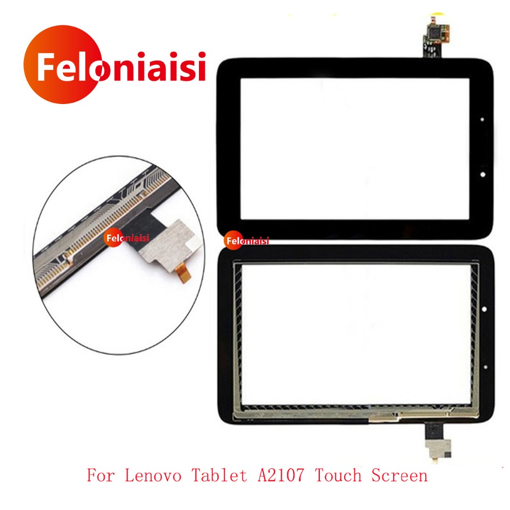 10Pcs/lot High Quality 7 For Lenovo Tablet A2107 Touch Screen Sensor With Digitizer Panel Front Glass Lens Free Shipping high quality 7 le pad tablet pc touch for lenovo a1 07 touch screen digitizer glass lens replacement