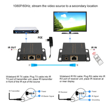 50m/164ft HDMI Video Audio Extender Converter HD 1080P Over Single CAT5/CAT6/CAT6E for PC HDTV DVD Blu-ray Players Set-Top Box