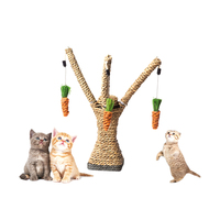 Petacc High Quality Cat Interactive Tree Tower Kitten Scratching Post Toy Sisal Rope Pet Activity Climbing