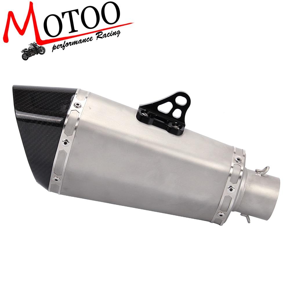 Моту -51мм реальные углеродного волокна из нержавеющей стали мотоцикл выхлопной трубы Мотокросс глушитель с дБ убийца