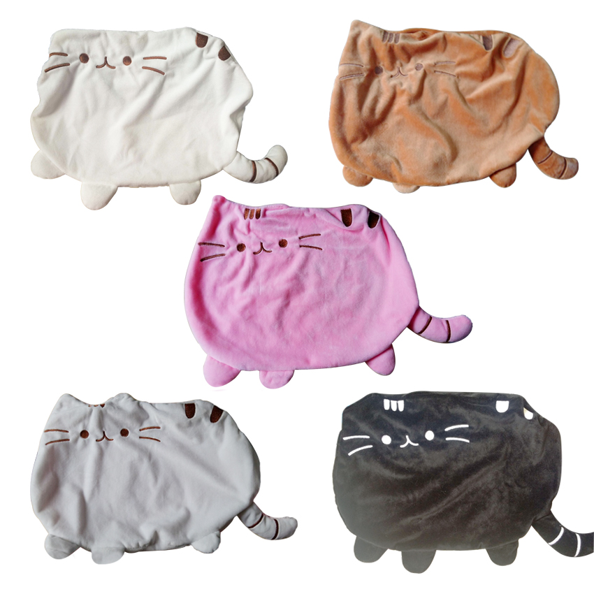 1pcs 40*30cm Kawaii Brinquedos Cat Pusheen Pillow With Zipper Only Skin Without PP Cotton Biscuits Big Cushion Pillow Kids Toys