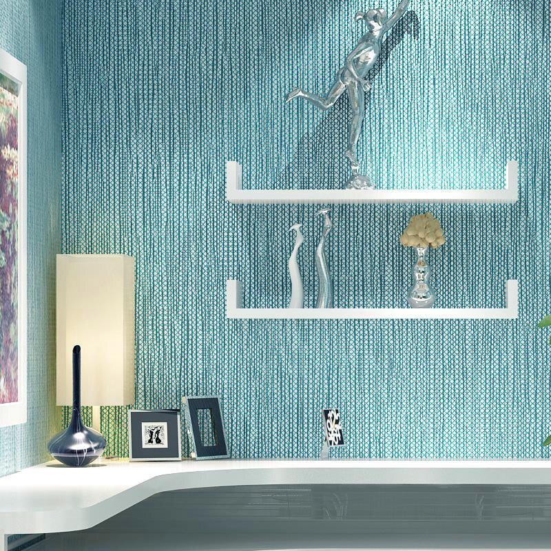 Mediterranen Stil Blau Vertikale Streifen 3D Tapete Moderne Wohnzimmer  Schlafzimmer Studie Hotel Plain Farbe Nicht Woven Wand Papiere