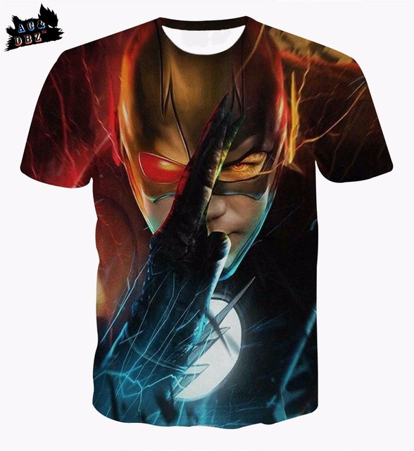 499c39588a9a AC DBZ new men s short-sleeved T-shirt Flash animation 3D printing T-shirt  men s and women s fashion personalized T-shirt