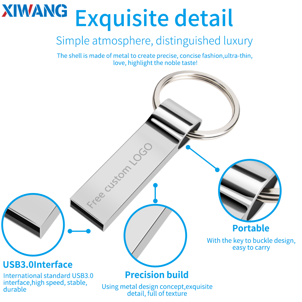 Image 2 - XIWANG Usb flash drive 64GB Pendrive USB 3.0 High Speed 128GB 32GB 16GB 8GB 4GB pen drive Real Capacity USB Flash Free Shipping-in USB Flash Drives from Computer & Office