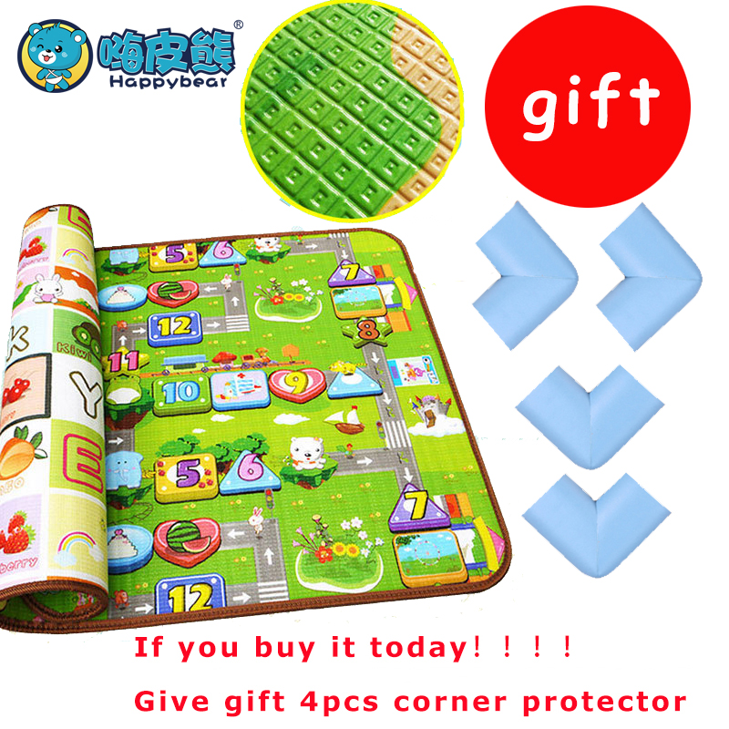 Baby Gym Double-Side Activity Gym Mat developing mat Crawling Thick playmat baby Educational Rug For Children 180*150cm Puzzle