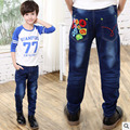2017 Spring Boys Geometric Jeans Pants Children Jeans Light Wash Boys Jeans for Boy Regular Elastic Waist Children's Jeans P265