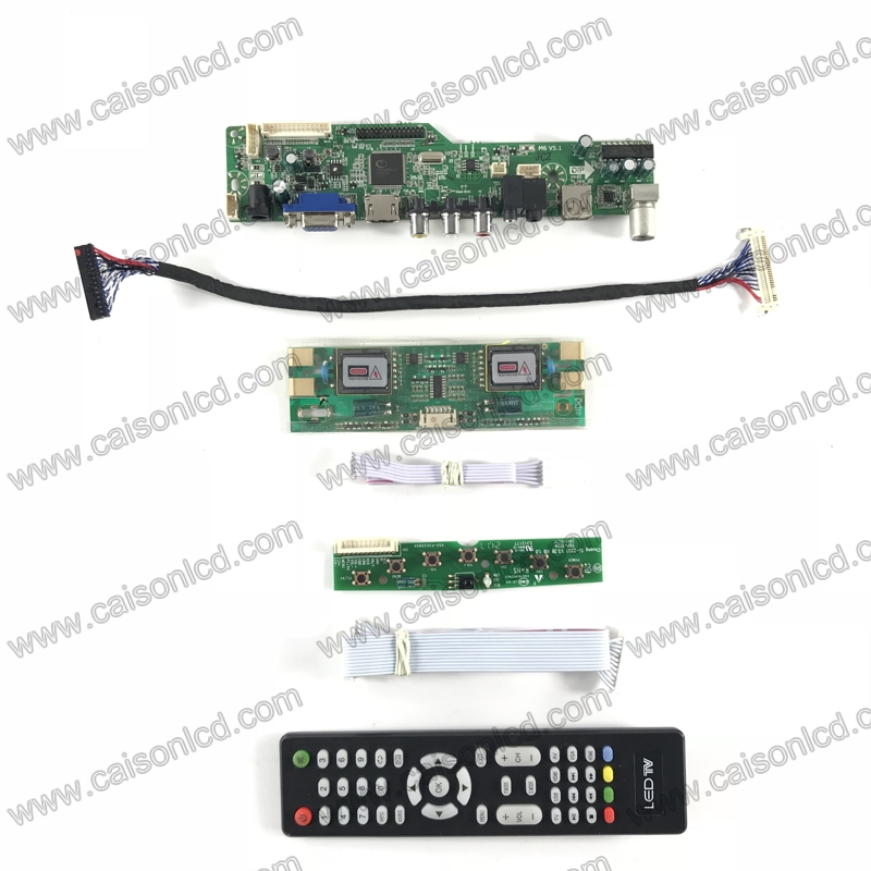 M6-V5.1 LCD TV controller board support HDMI VGA AUDIO AV USB TV for 19 inch 1280X1024 lcd panel M190EG01 V2 M190EG02 V4 repair