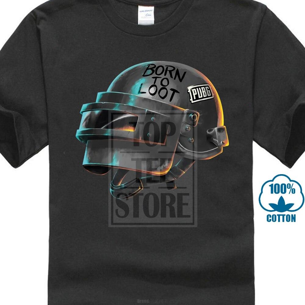 Cool Playerunknown S Battlegrounds T Shirt Large Size: Playerunknown'S Battleground Pubg Born To Loot Black T