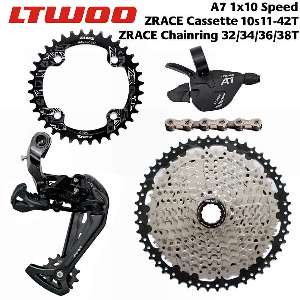 LTWOO A7 <font><b>1x10</b></font> Speed Shifter + Rear Derailleur + ZRACE Cassette /Chainring +Chain <font><b>Groupset</b></font> CR BEYOND 6000 Bicycle Accessories image