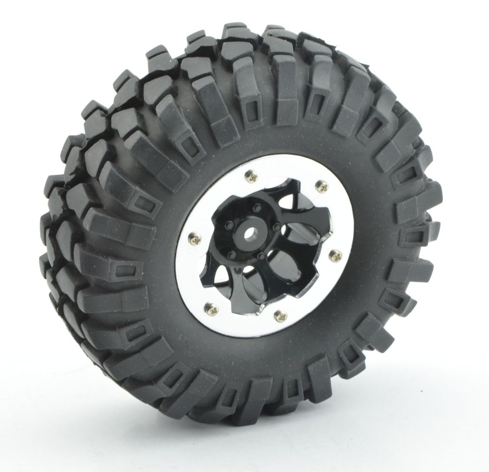 2pcs RC 1.9/'/' Alum Beadlock Wheel rims Fit RC 4WD Axial other 1.9 Crawler tires
