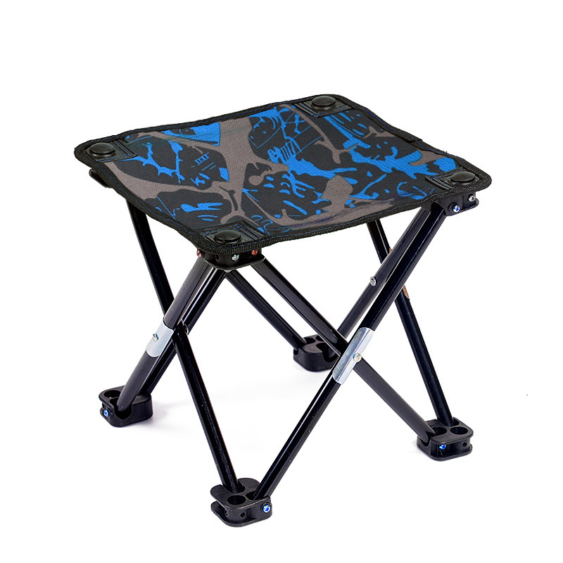 Outdoor Portable Camping Chair Fishing Foldable Al Train Travelling Light Small Seat Oxford Green Blue Gray Camouflage Chair