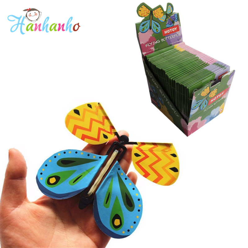 48pcs/Display Exclusive Hot Magic Flying Butterfly Easy To Do Magic Tricks Props Toys For Children Surprising Gift alluminum alloy magic folding table bronze color magic tricks illusions stage mentalism necessity for magician accessories