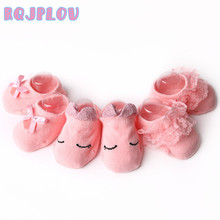 3pairs/lot Spring Summer Cute baby socks Candy Colors Retro Lace Cotton Short Socks Kids Princess Baby Girl