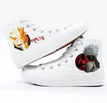 High-Q Unisex Anime Cos Naruto Hatake Kakashi Uzumaki Casual Punk plimsolls canvas shoes rope soled shoe