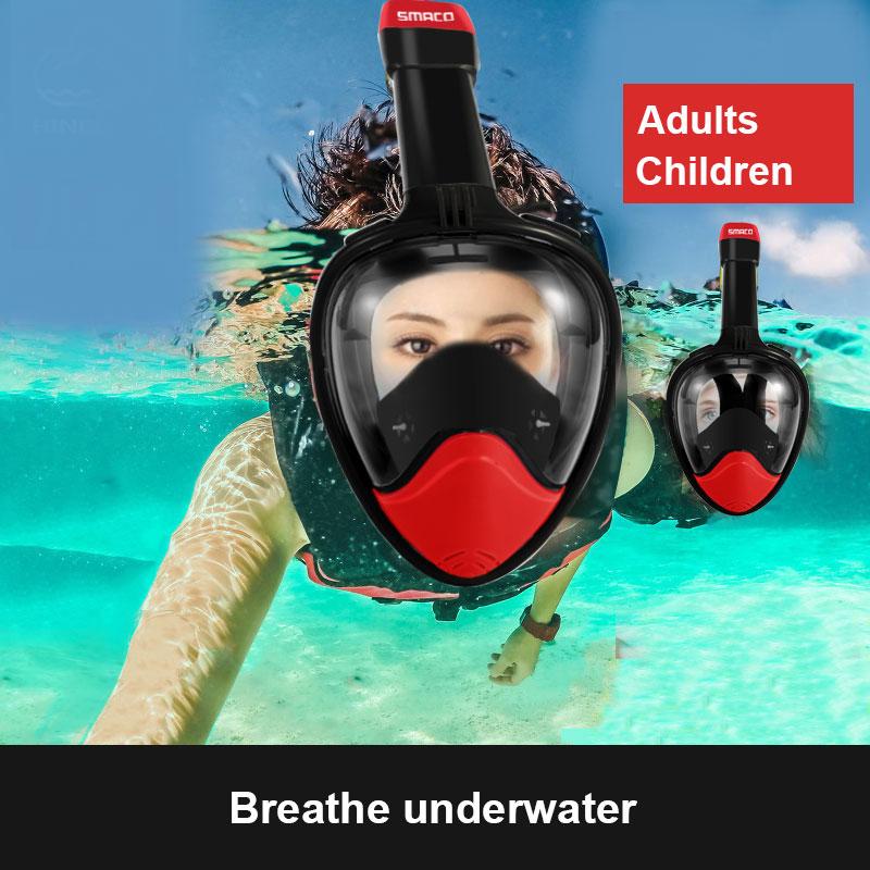 Noir rouge S/L Natatorium tuyau de reniflard masque Submersible sec masque de natation Durable tuba outil de respiration de plongée