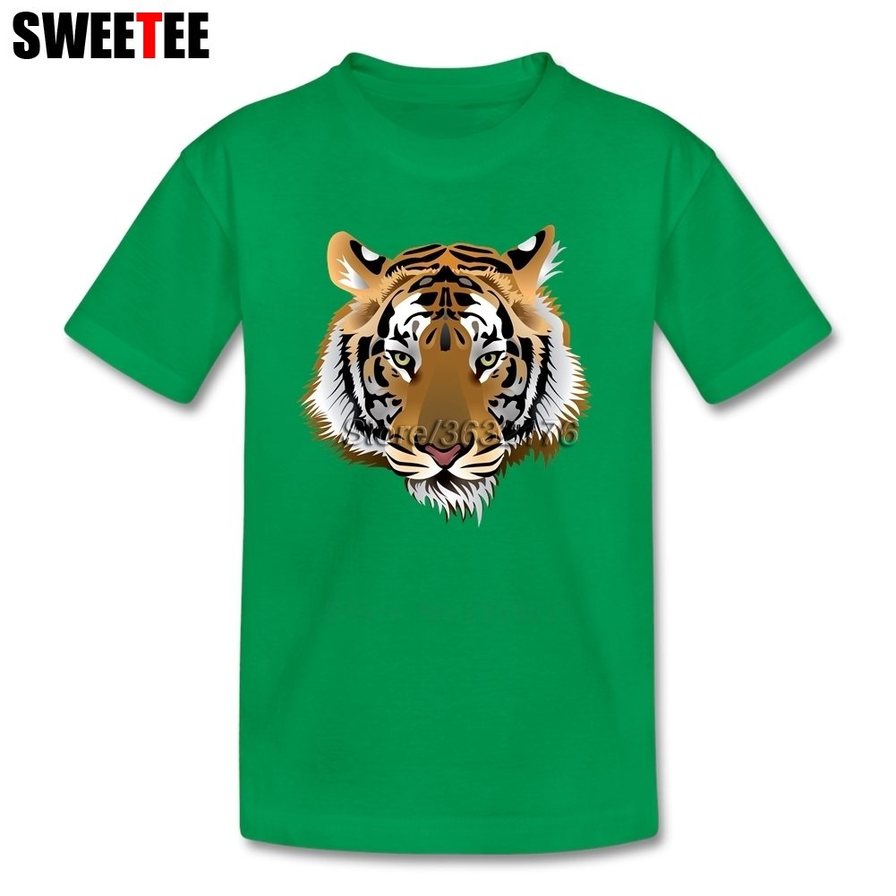 Children Garment T Shirt Infant Toddler Tiger Head 3D 100% Cotton Boy Girl 2018 T-shirt O Neck Kid Tshirt