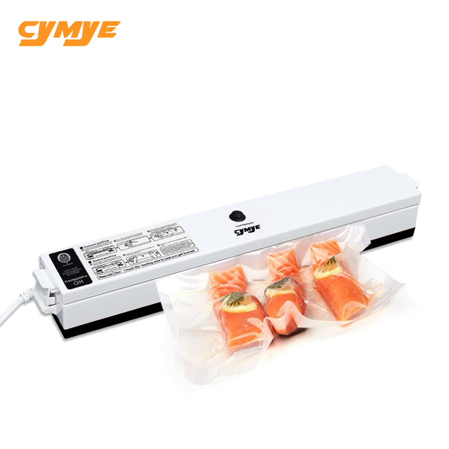 CYMYE Food Vacuum Sealer Packaging Machine 220V including 15Pcs bag can be use for Sous Vide