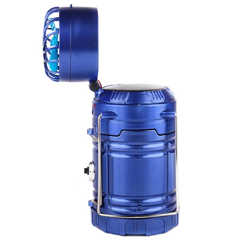 EU Plug,Multifunction Outdoor Portable Lamp Solar Rechargeable Fan Led Camping Light Table Lamp Flashlights