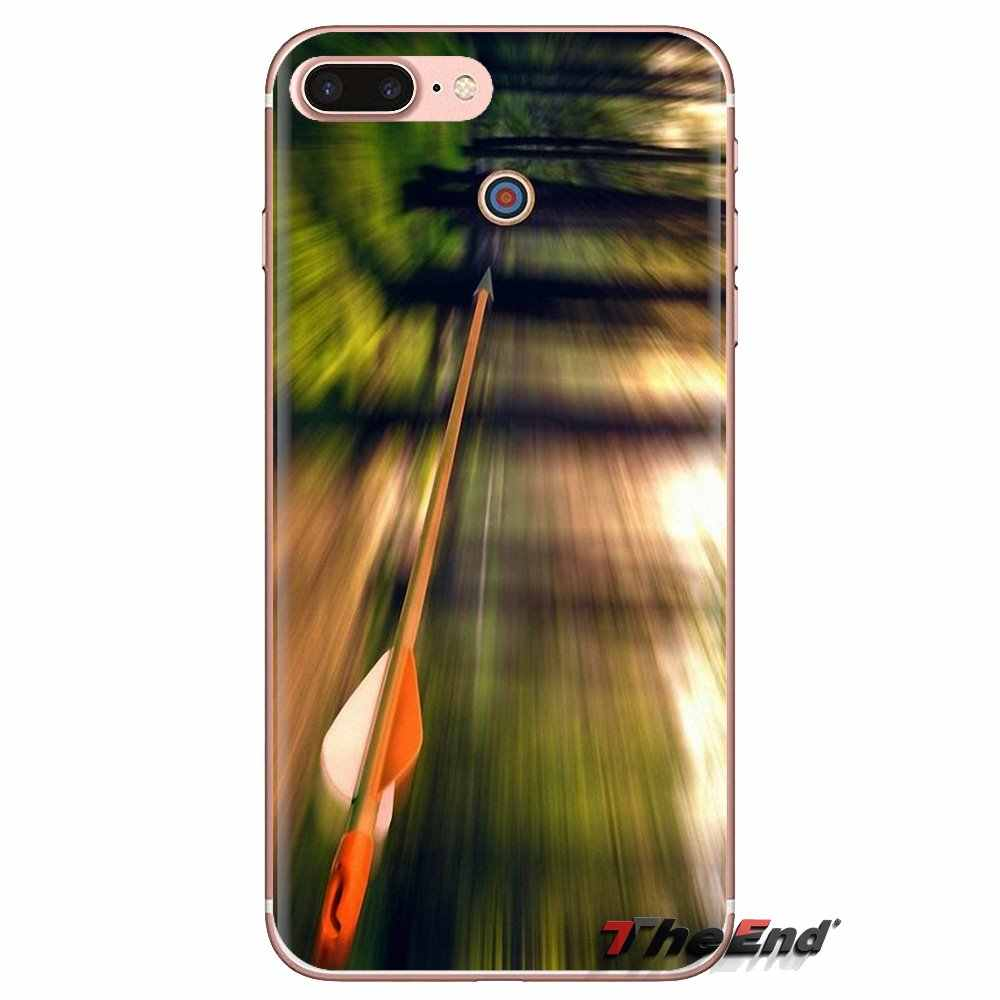 Silicone Phone Housing Bow and Arrow Archery Wallpaper For Samsung Galaxy S3 S4 S5 Mini S6 S7 Edge S8 S9 S10 Plus Note 3 4 5 8 9