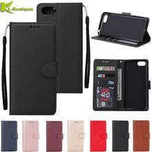 Ehre 7A Leder Fall auf für Huawei Ehre 7A DUA L22 Abdeckung 5,45 zoll Klassische Stil Feste Farbe Flip Brieftasche Telefon fällen Coque