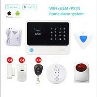 G90B Security Wireless Wifi GSM Alarm System WIFI GSM GPRS With Wireless Stobe Siren Smoke Detector