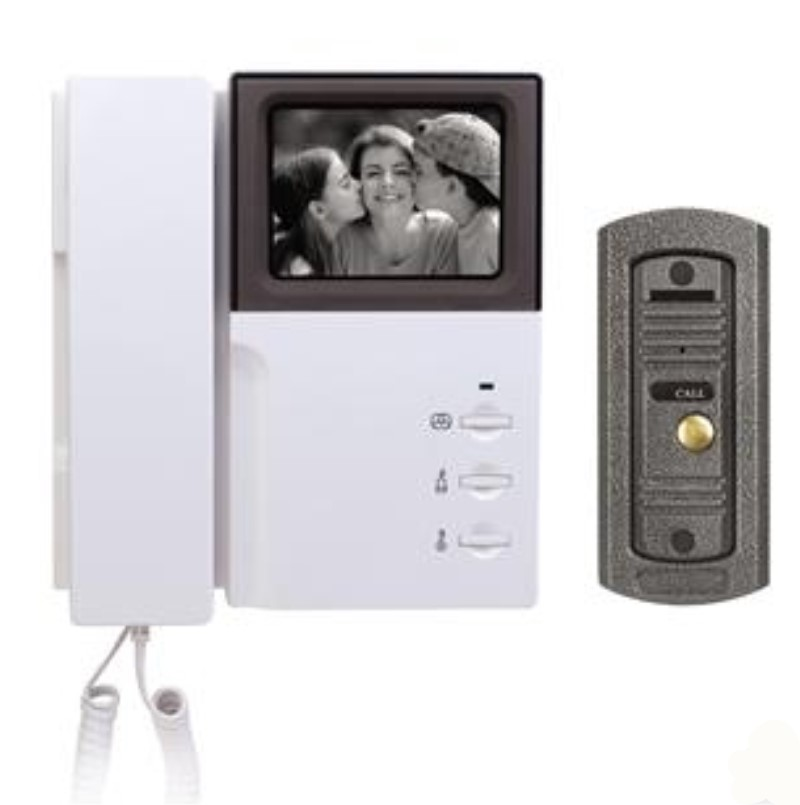 4 Inch Color LCD Monitor Wired Intercom Video Door Phone