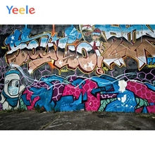 Yeele Decadent Graffiti Wall Grunge Children Kids Personalized Photographic Backdrops Photography Backgrounds For Photo Studio decadent