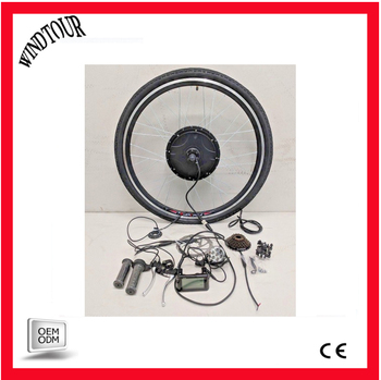 Electric bicycle hub conversion kit wit intelligent controller and LCD display 250W/500W/36V/48V