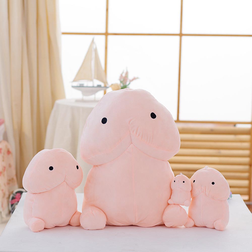 10/20/30cm Funny Cute Penis Dolls Soft Toys Pink Rooster Gifts Plush Pillow Toy Plush Animals Cute Pillow Stuffed Valentines Day