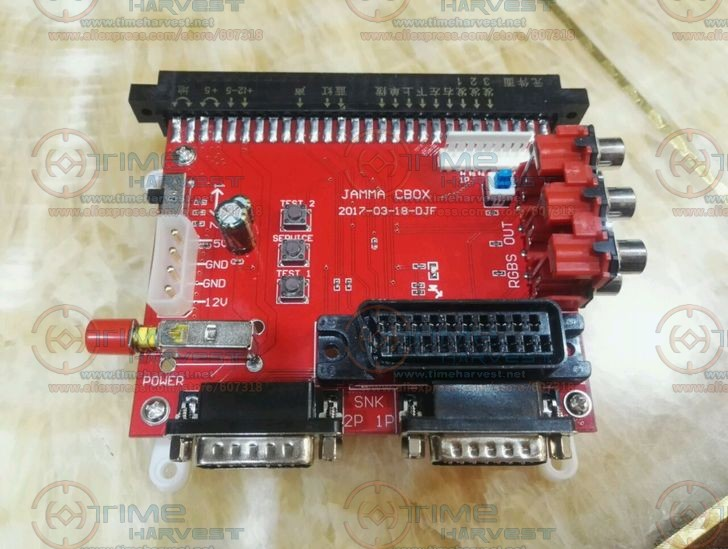 JAMMA to DB 15PIN Joypad Converting Board JAMMA CBOX Converter With SCART Output For Any JAMMA