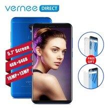 Оригинальный Vernee M6 Ultra 5,7 дюймов 4 ГБ Оперативная память 64 ГБ Встроенная память 8-ядерный смартфон 13MP селфи Камера 16MP сзади Камера 3300 мАч сотовые телефоны