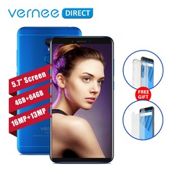 Original Vernee M6 Ultra 5.7 Inch 4GB RAM 64GB ROM Octa-Core Smartphone 13MP Selfie Camera 16MP Rear Camera 3300mAh Cell Phones