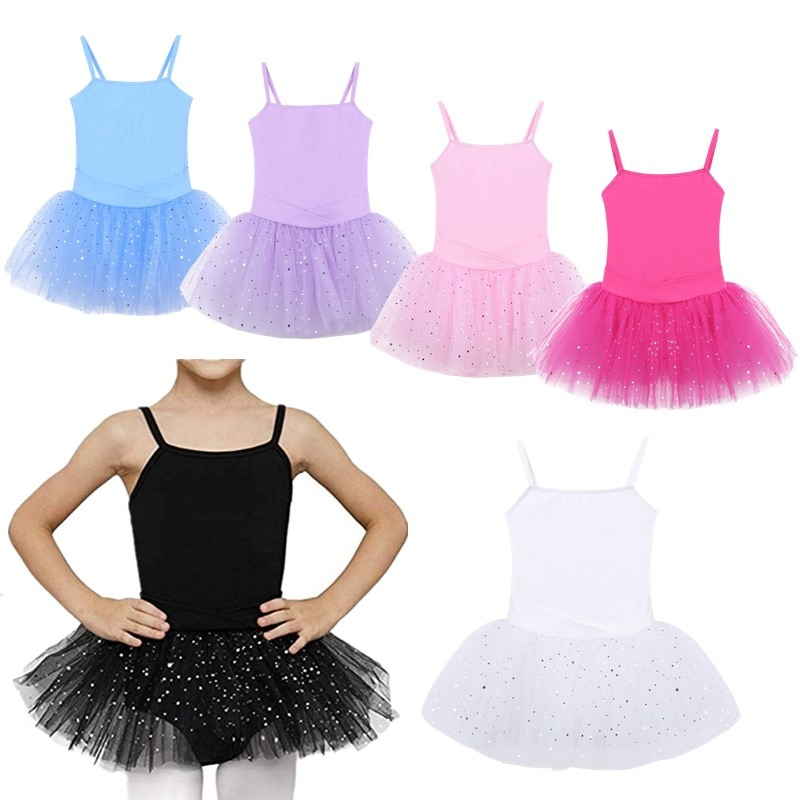 Dress Gymnastics-Leotard Ballet-Tutu Girls Dancewear Glitter Ballet-Dance-Class Professional