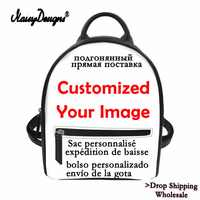 Noisydesigns Customized Bags With Logo Image Womens Mini Backpack Leather College Girls Soft Touch Ladies DIY Bags Drop Shipping