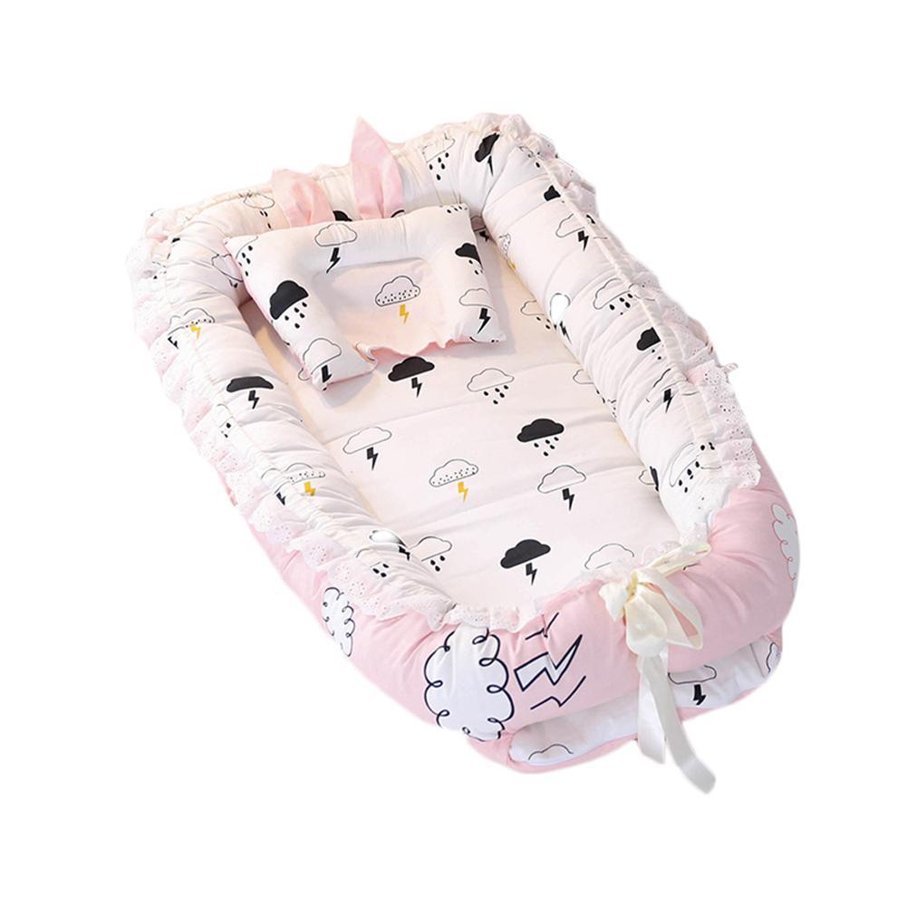 Baby Nest Multifunctional Travel Crib Cartoon Printing Newborn Mattress Bionic Bed Detachable Washable Portable Baby Upgrade