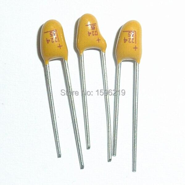100pcs 35V 0.68uF 35V Radial DIP Tantalum Capacitor