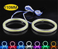 2pcs Auto Halo Rings Kit 110mm Ice Blue COB Chip Angel Eye Ring LED Headlight Car Head Light With Lampshades