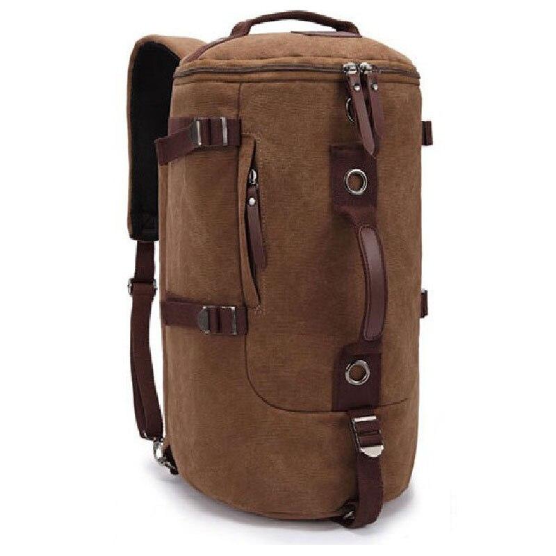 6c5116e8924e3 سعة كبيرة حقائب السفر رجل العسكرية التكتيكية الجبال تخييم التنزه الظهر قماش  دلو حقيبة الكتف