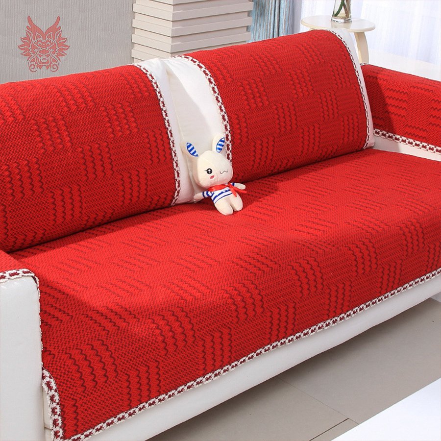 Buy modern style red cotton sofa cover for Canape suppliers