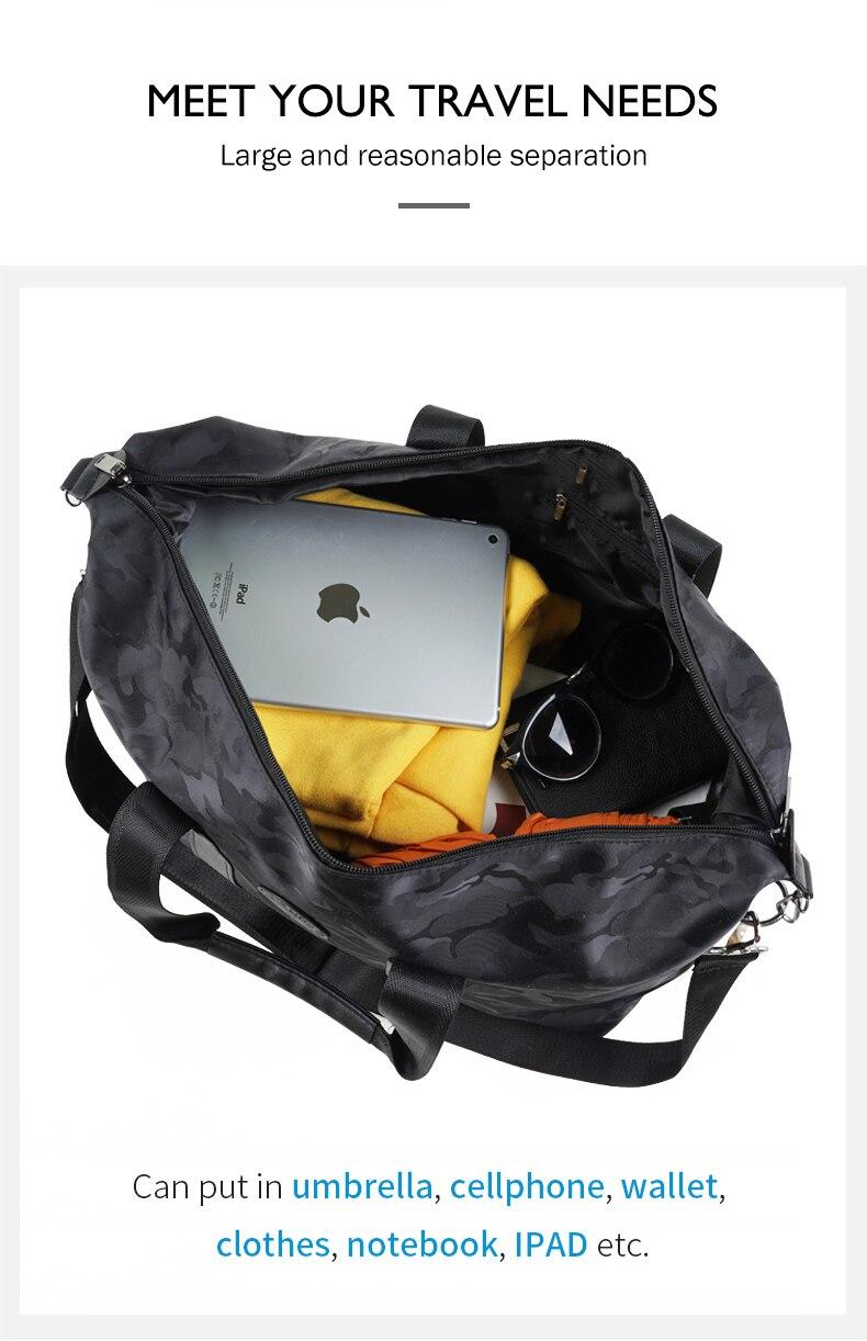 Novo náilon carry on saco de viagem